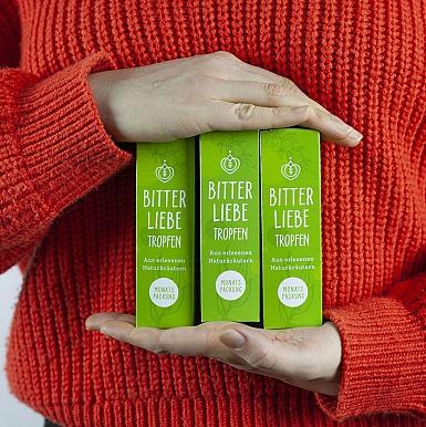 BitterLiebe 50ml (3er Paket) - Nahrungsergänzungsmittel mit Kräuterauszügen