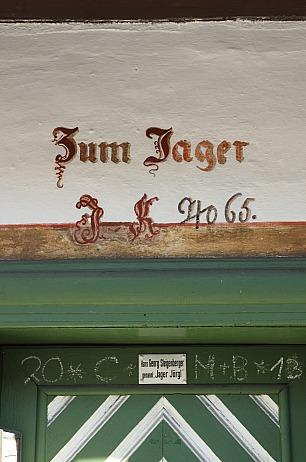 Destillerie Bad Kohlgrub: Haustür Jager Joergl