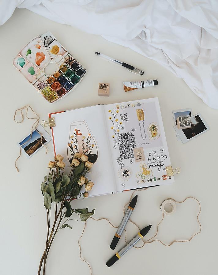Fotoalben zum Einkleben und Beschriften
