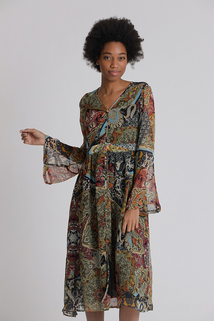 Princess Goes Hollywood: Hippie-Kleid mit Persischen Blumen-Print