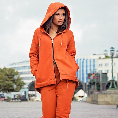 Lieb Ju: Loungewear Jacke Terrakotta