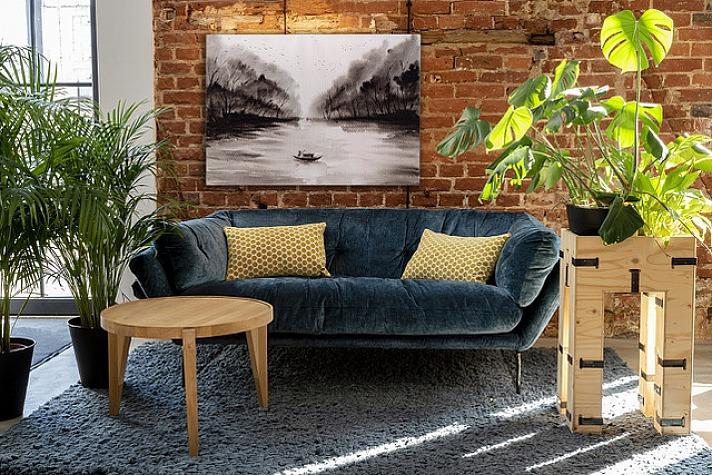 Schwarz-weißes Bild im Wohnzimmer