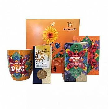SONNENTOR: Sonnengruß mit Sonnenkuss Yoga Geschenkkarton