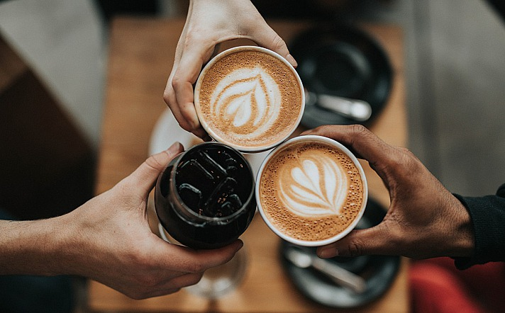 Atmosphäre zum Kaffeetrinken