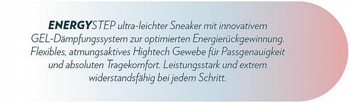 EnergyStep: ultra-leichter Sneaker mit innovativem GEL-Dämpfungssstem
