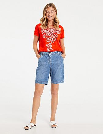 GERRY WEBER: Denim Shorts organic cotton