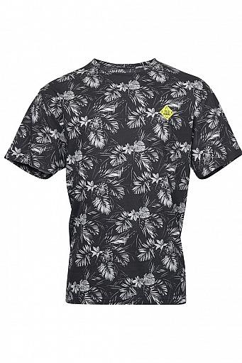 Highleytall: Replika Jeans T-Shirt - Floral Grey