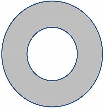 Weißer Kern und graue Schale