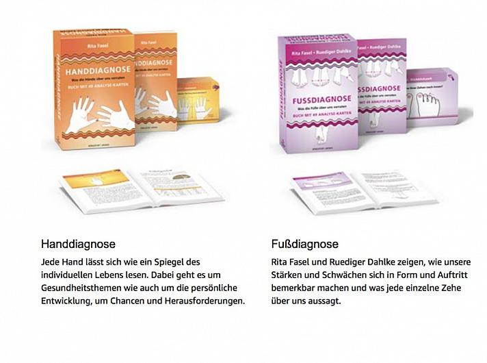 Kartensets mit Begleitbuch:Handdiagnose und Fussdiagnose