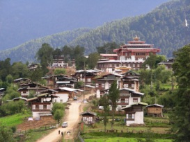 Gangtey Dorf | Städte » Asien | Katharina Hoyer / pixelio