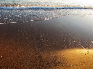 Kleine Welle am Strand | Landschaft & Natur » Strand & Meer | Rainer Sturm / pixelio