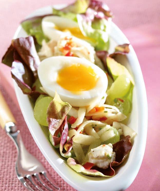 Rezept vegetarisch kopfsalat mit trauben und schafsk se - Eier hart kochen dauer ...