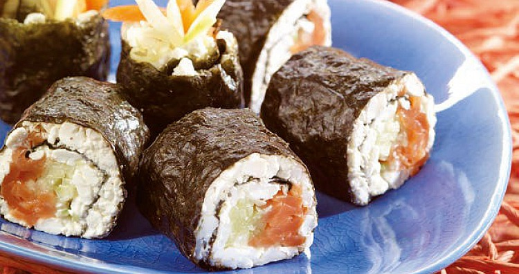 Rezept (Mit Fisch): Low-Carb-Sushi - Low-Carb kalte Küche ...