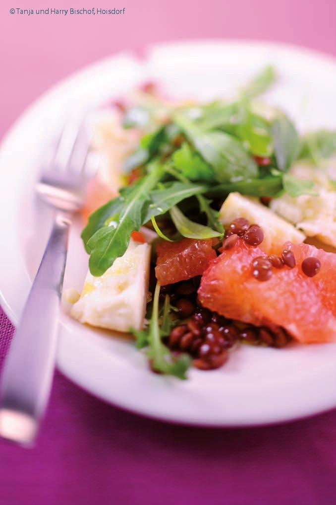 rezept vegetarisch rucola linsen salat mit ziegenk se low carb in 15 minuten. Black Bedroom Furniture Sets. Home Design Ideas